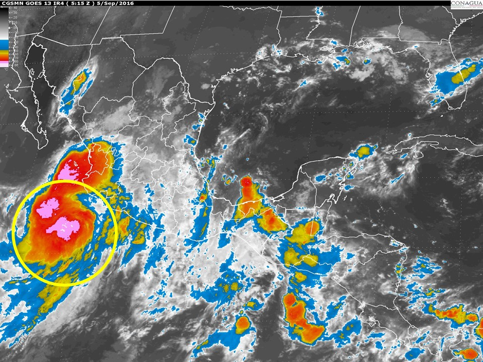 Aviso de Ciclón en México