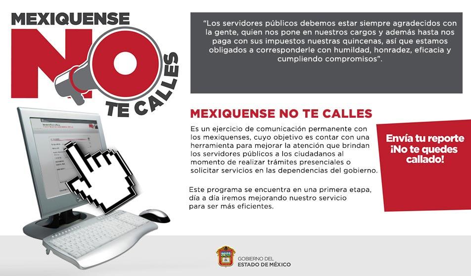Mexiquense No Te Calles Programa de Denuncias de México