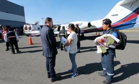 Eruviel Controla el Traslado a Galveston del Niño Quemado por Explosión en México