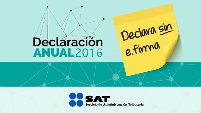 Declaración Anual 2016 en Abril México