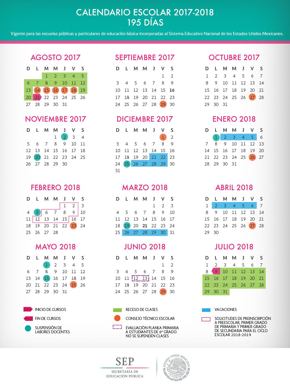 Calendario de Educación Básica sin lineamiento necesario