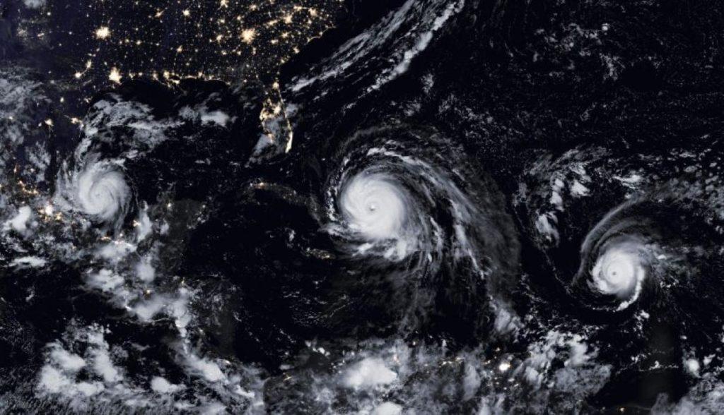 Irma, Katia y José Imágenes Sacadas del Espacio Exterior