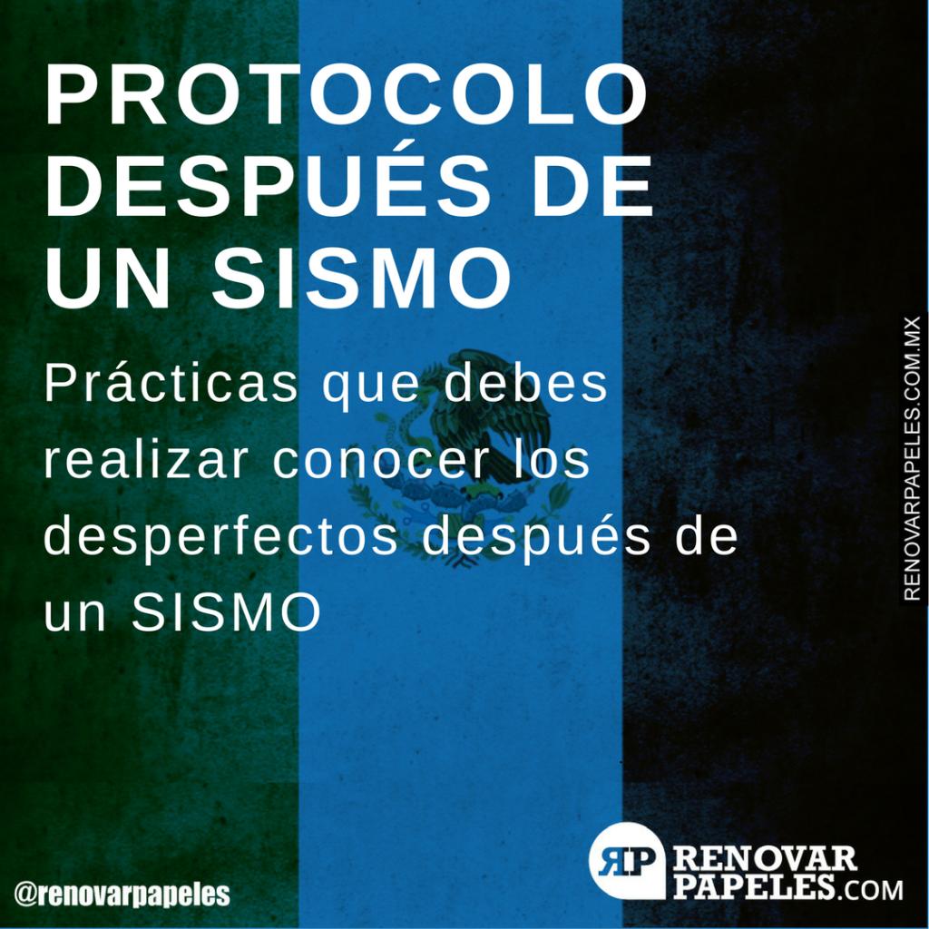 Protocolo después de un SISMO