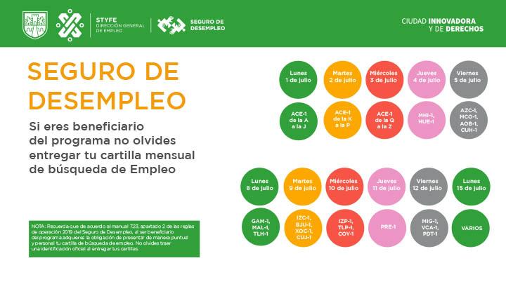 Calendario para Entregar Cartillas de B�squeda de Empleo CDMX